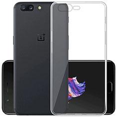 Silikon Schutzhülle Ultra Dünn Tasche Durchsichtig Transparent T02 für OnePlus 5 Klar