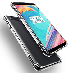 Silikon Schutzhülle Ultra Dünn Tasche Durchsichtig Transparent T02 für OnePlus 5T A5010 Klar