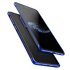 Silikon Schutzhülle Ultra Dünn Tasche Durchsichtig Transparent T02 für OnePlus 6 Blau