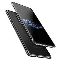 Silikon Schutzhülle Ultra Dünn Tasche Durchsichtig Transparent T02 für OnePlus 6 Schwarz
