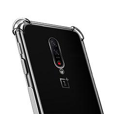 Silikon Schutzhülle Ultra Dünn Tasche Durchsichtig Transparent T02 für OnePlus 7 Pro Klar