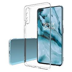 Silikon Schutzhülle Ultra Dünn Tasche Durchsichtig Transparent T02 für OnePlus Nord Klar