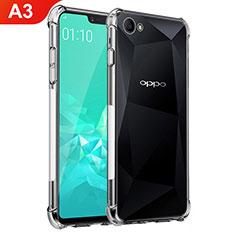 Silikon Schutzhülle Ultra Dünn Tasche Durchsichtig Transparent T02 für Oppo A3 Klar