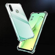 Silikon Schutzhülle Ultra Dünn Tasche Durchsichtig Transparent T02 für Oppo A31 Klar