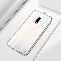 Silikon Schutzhülle Ultra Dünn Tasche Durchsichtig Transparent T02 für Oppo Realme X Klar