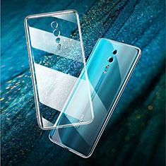 Silikon Schutzhülle Ultra Dünn Tasche Durchsichtig Transparent T02 für Oppo Reno Z Klar