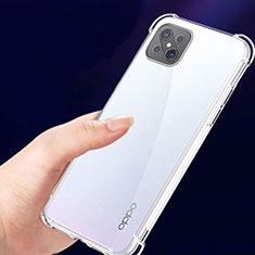 Silikon Schutzhülle Ultra Dünn Tasche Durchsichtig Transparent T02 für Oppo Reno4 Z 5G Klar