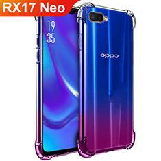Silikon Schutzhülle Ultra Dünn Tasche Durchsichtig Transparent T02 für Oppo RX17 Neo Klar