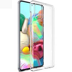 Silikon Schutzhülle Ultra Dünn Tasche Durchsichtig Transparent T02 für Samsung Galaxy A71 5G Klar