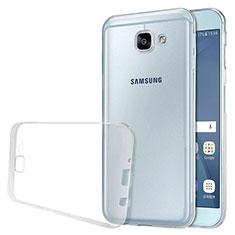 Silikon Schutzhülle Ultra Dünn Tasche Durchsichtig Transparent T02 für Samsung Galaxy A8 (2016) A8100 A810F Klar