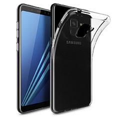 Silikon Schutzhülle Ultra Dünn Tasche Durchsichtig Transparent T02 für Samsung Galaxy A8 (2018) Duos A530F Klar