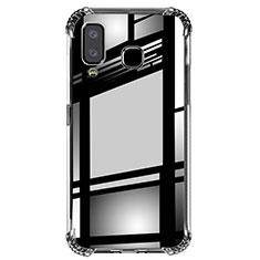 Silikon Schutzhülle Ultra Dünn Tasche Durchsichtig Transparent T02 für Samsung Galaxy A8 Star Klar