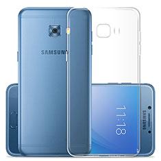 Silikon Schutzhülle Ultra Dünn Tasche Durchsichtig Transparent T02 für Samsung Galaxy C7 Pro C7010 Klar