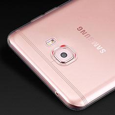 Silikon Schutzhülle Ultra Dünn Tasche Durchsichtig Transparent T02 für Samsung Galaxy C9 Pro C9000 Klar