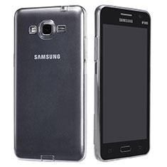 Silikon Schutzhülle Ultra Dünn Tasche Durchsichtig Transparent T02 für Samsung Galaxy Grand Prime 4G G531F Duos TV Klar