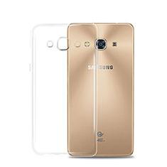 Silikon Schutzhülle Ultra Dünn Tasche Durchsichtig Transparent T02 für Samsung Galaxy J3 Pro (2016) J3110 Klar