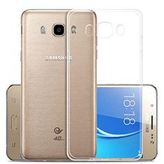 Silikon Schutzhülle Ultra Dünn Tasche Durchsichtig Transparent T02 für Samsung Galaxy J5 Duos (2016) Klar
