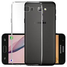 Silikon Schutzhülle Ultra Dünn Tasche Durchsichtig Transparent T02 für Samsung Galaxy J5 Prime G570F Klar