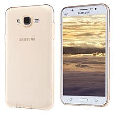 Silikon Schutzhülle Ultra Dünn Tasche Durchsichtig Transparent T02 für Samsung Galaxy J5 SM-J500F Gold