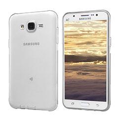 Silikon Schutzhülle Ultra Dünn Tasche Durchsichtig Transparent T02 für Samsung Galaxy J5 SM-J500F Grau
