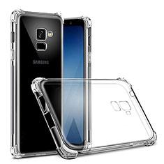 Silikon Schutzhülle Ultra Dünn Tasche Durchsichtig Transparent T02 für Samsung Galaxy J6 (2018) J600F Klar
