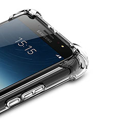 Silikon Schutzhülle Ultra Dünn Tasche Durchsichtig Transparent T02 für Samsung Galaxy J7 Plus Klar