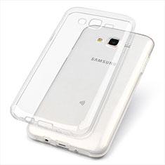 Silikon Schutzhülle Ultra Dünn Tasche Durchsichtig Transparent T02 für Samsung Galaxy J7 SM-J700F J700H Klar