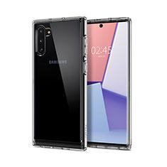 Silikon Schutzhülle Ultra Dünn Tasche Durchsichtig Transparent T02 für Samsung Galaxy Note 10 5G Klar