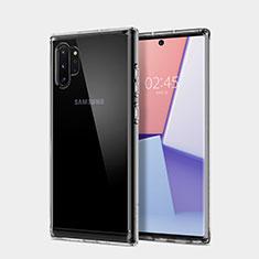 Silikon Schutzhülle Ultra Dünn Tasche Durchsichtig Transparent T02 für Samsung Galaxy Note 10 Plus Klar