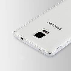 Silikon Schutzhülle Ultra Dünn Tasche Durchsichtig Transparent T02 für Samsung Galaxy Note 4 Duos N9100 Dual SIM Klar