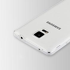 Silikon Schutzhülle Ultra Dünn Tasche Durchsichtig Transparent T02 für Samsung Galaxy Note 4 SM-N910F Klar