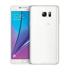 Silikon Schutzhülle Ultra Dünn Tasche Durchsichtig Transparent T02 für Samsung Galaxy Note 5 N9200 N920 N920F Klar
