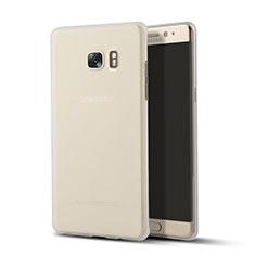 Silikon Schutzhülle Ultra Dünn Tasche Durchsichtig Transparent T02 für Samsung Galaxy Note 7 Klar