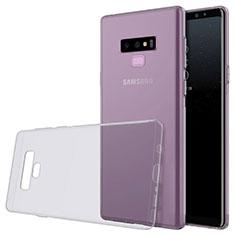 Silikon Schutzhülle Ultra Dünn Tasche Durchsichtig Transparent T02 für Samsung Galaxy Note 9 Grau