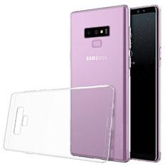 Silikon Schutzhülle Ultra Dünn Tasche Durchsichtig Transparent T02 für Samsung Galaxy Note 9 Klar