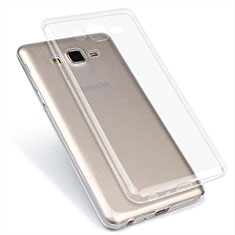 Silikon Schutzhülle Ultra Dünn Tasche Durchsichtig Transparent T02 für Samsung Galaxy On7 G600FY Klar