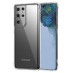 Silikon Schutzhülle Ultra Dünn Tasche Durchsichtig Transparent T02 für Samsung Galaxy S21 Ultra 5G Klar