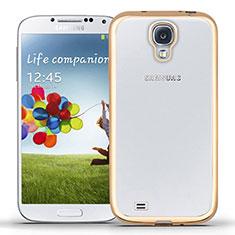 Silikon Schutzhülle Ultra Dünn Tasche Durchsichtig Transparent T02 für Samsung Galaxy S4 i9500 i9505 Gold