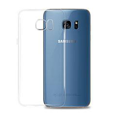 Silikon Schutzhülle Ultra Dünn Tasche Durchsichtig Transparent T02 für Samsung Galaxy S7 G930F G930FD Klar