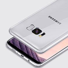 Silikon Schutzhülle Ultra Dünn Tasche Durchsichtig Transparent T02 für Samsung Galaxy S8 Klar