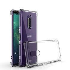 Silikon Schutzhülle Ultra Dünn Tasche Durchsichtig Transparent T02 für Sony Xperia 1 Klar
