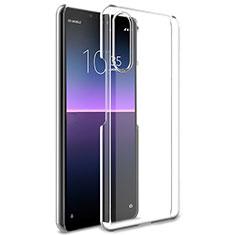 Silikon Schutzhülle Ultra Dünn Tasche Durchsichtig Transparent T02 für Sony Xperia 10 II Klar