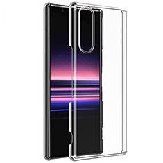 Silikon Schutzhülle Ultra Dünn Tasche Durchsichtig Transparent T02 für Sony Xperia 5 Klar