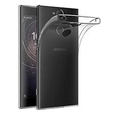 Silikon Schutzhülle Ultra Dünn Tasche Durchsichtig Transparent T02 für Sony Xperia XA2 Klar