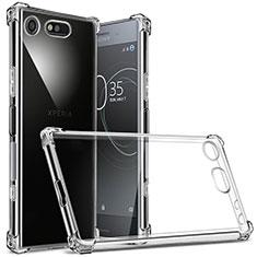 Silikon Schutzhülle Ultra Dünn Tasche Durchsichtig Transparent T02 für Sony Xperia XZ1 Compact Klar