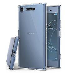 Silikon Schutzhülle Ultra Dünn Tasche Durchsichtig Transparent T02 für Sony Xperia XZ1 Klar