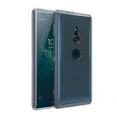 Silikon Schutzhülle Ultra Dünn Tasche Durchsichtig Transparent T02 für Sony Xperia XZ2 Klar