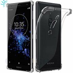 Silikon Schutzhülle Ultra Dünn Tasche Durchsichtig Transparent T02 für Sony Xperia XZ2 Premium Klar