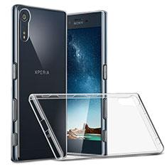 Silikon Schutzhülle Ultra Dünn Tasche Durchsichtig Transparent T02 für Sony Xperia XZs Klar