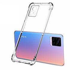 Silikon Schutzhülle Ultra Dünn Tasche Durchsichtig Transparent T02 für Vivo V20 Pro 5G Klar